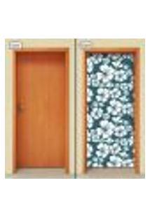 Adesivo Decorativo De Porta - Flores - 1471Cnpt