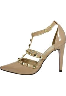 Scarpin Week Shoes Tachas Spike Nude