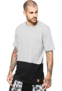 Camiseta Manga Curta West Coast Bolso Embutido Cinza