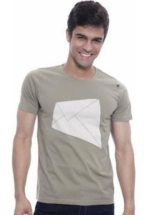 Camiseta Oitavo Ato E-Mail Masculina - Masculino-Bege