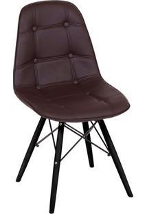 Cadeira Eames Botonãª- Cafã© & Preta- 83X44X39Cm- Or Design