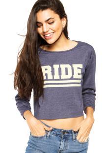 Blusa Ride Skateboard Twill Azul