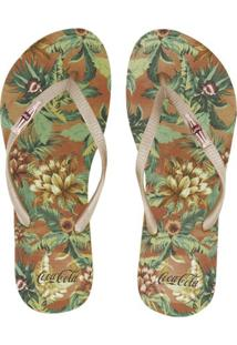 Sandália Coca Cola Jungle Floral Feminina