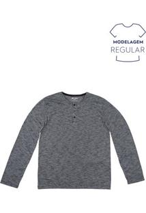 Camiseta Masculina Básica Regular Com Manga Longa Hering