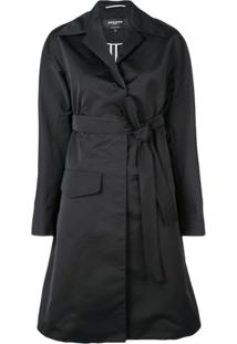 Rochas Trench Coat Com Cinto - Preto