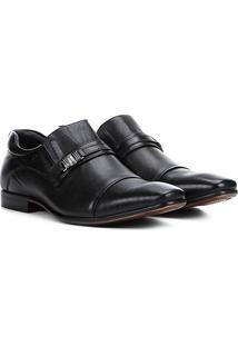 Sapato Social Couro Rafarillo Dubai Masculino - Masculino-Preto