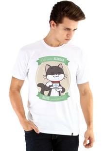 Camiseta Ouroboros Manga Curta Café E Gatos - Masculino