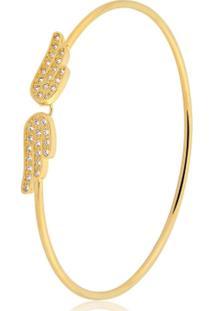 Pulseira Toque De Joia Bracelete Fio Asas - Feminino-Dourado