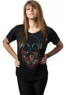Camiseta Skull Lab Skull Neon Preto