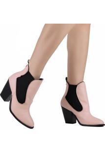 Bota Ankle Boot Zariff Chelsea Rosa