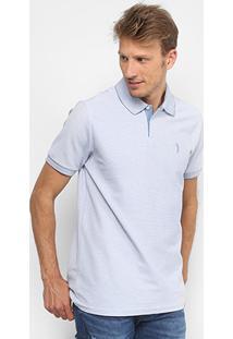 Camisa Polo Aleatory Piquet Listrada Masculina - Masculino