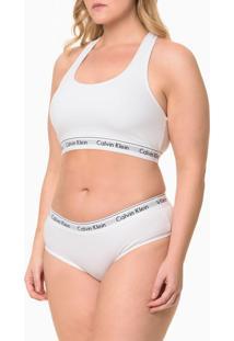 Calcinha Modern Cotton Plus Size - Branco - 2Xl
