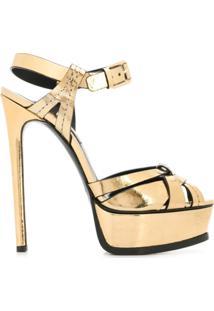 Casadei Sandália Com Salto Agulha - Dourado