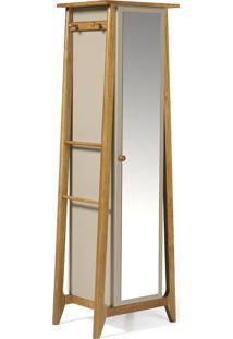Armário Multiuso 1 Porta Stoka 981 Nogal/Marrom Claro - Maxima