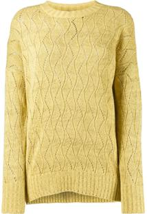 Etro Pointelle Knitted Jumper - Amarelo