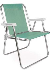 Cadeira De Praia Alta Mor Em Alumínio Suporta Até 90 Kg - Unissex