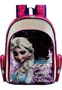 Mochila Infantil Grande Frozen Premium Rosa Dermiwil