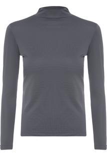 Camiseta Feminina Térmica Basic Neutro - Cinza