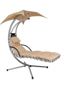 Cadeira Balance Aço E Poliéster Suporta Até 120 Kg 9023 Mor