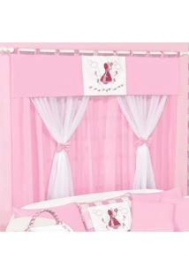 Cortina Dupla Padroeira Baby Camponesa - Rosa