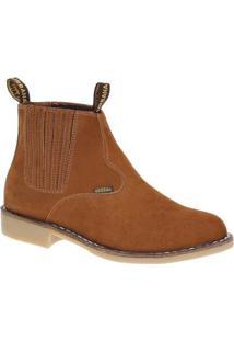 Bota Couro Vira Francesa Urbana Boots Masculina - Masculino-Marrom