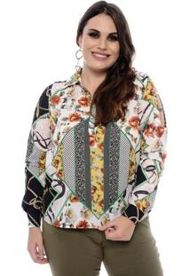 Camisa Feminina Corrente Plus Size