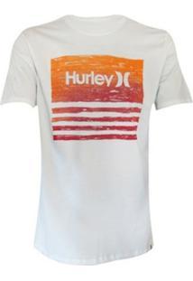 Camiseta Silk Bordeline Textripe Hurley Masculina - Masculino