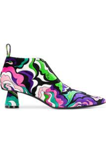 Emilio Pucci Ankle Boot Salto Baixo - Rosa