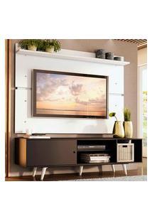 Rack Madesa Dubai E Painel Para Tv Até 65 Polegadas Com Pés - Preto/Branco 8N09 Preto