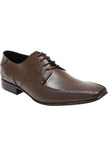 Sapato Social Leblon Em Couro Com Pespontos Laterais- Macns