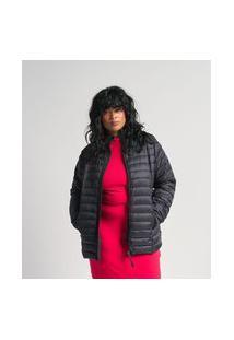 Jaqueta Curta Em Poliamida Com Gomos Curve & Plus Size | Ashua Curve E Plus Size | Preto | Eg