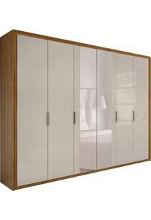 Guarda-Roupa Casal Com Espelho Stillus 6 Pt 6 Gv Rovere E Off White