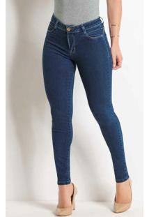 Calça Cigarrete Jeans Sawary Com Bolsos