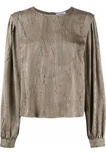 Anine Bing Panelled Striped Blouse - Neutro