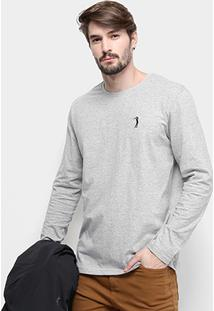 Camiseta Aleatory Manga Longa Masculina - Masculino