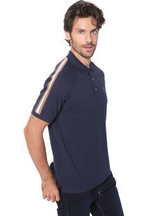 Camisa Polo Sergio K Reta Básica Azul-Marinho