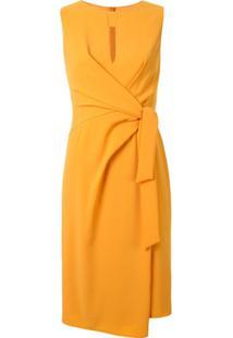 Paule Ka Vestido Reto Assimétrico - Amarelo