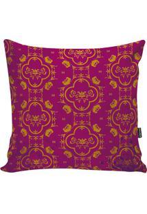 Capa De Almofada Indian- Pink & Amarelo Escuro- 42X4Stm Home