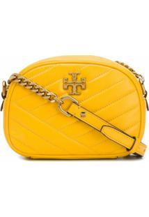 Tory Burch Bolsa Transversal Kira Pequena Com Chevron - Amarelo