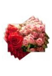 Jogo Americano - Flores Com 4 Peças - 863Jo