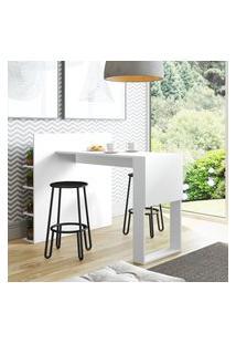 Mesa Aparador Com Painel Multiuso Be Mobiliário Smart Branca