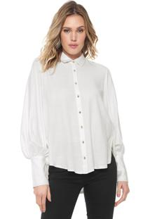 Camisa Forum Reta Pespontos Off-White