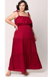Vestido Longo Almaria Plus Size Tal Qual Com Maria