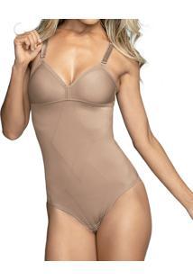 Body Modelador Demillus Violão (98846), Nude, 42