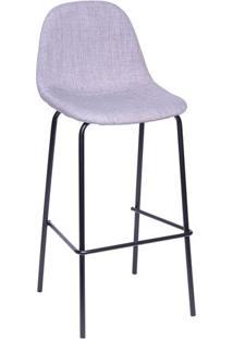 Banqueta Charla- Cinza & Preta- 107X43X39,5Cm- Oor Design