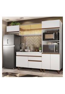 Armário De Cozinha Completa Madesa Reims 260001 Com Balcáo E Tampo - Branco Branco