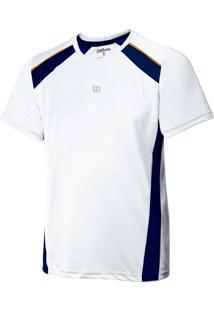 Camiseta Wilson Tour M Branco E Marinho