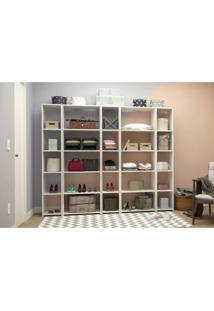 Closet Completo Com 5 Estantes Betty Siena Móveis Branco