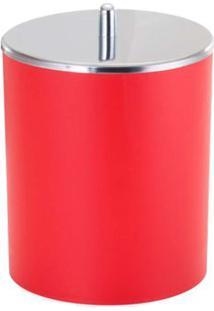 Lixeira 5 Litros Com Tampa Inox Vermelho Arthi