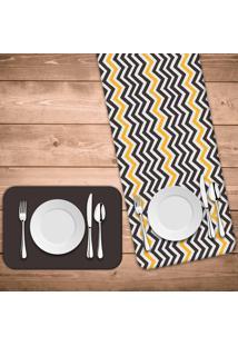 Jogo Americano Com Caminho De Mesa Wevans Abstrato Stripes